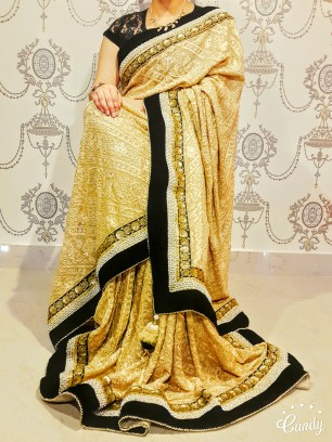 Crochet saree for party