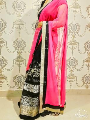 Lehenga saree - Alia Bhatt design